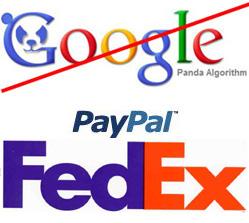 Google Panda, PayPal, FedEx, TruAqua