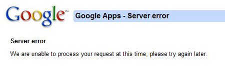 Google Wallet, Apps, Server Issue