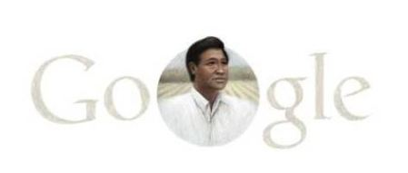 Google Doddle with Cesar Chavez on Easter, no Adwords