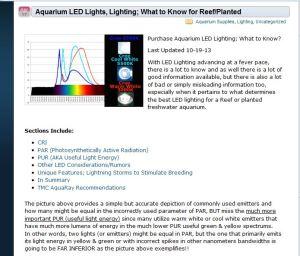 Aquarium Reef Lighting Website Extorted by Google